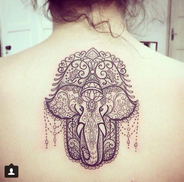 Mehndi Elephant Meaning : Elephant hamsa tattoo ideas pinterest and