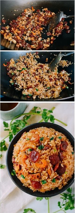 Fried Sticky Rice with Chinese Sausage Recipe