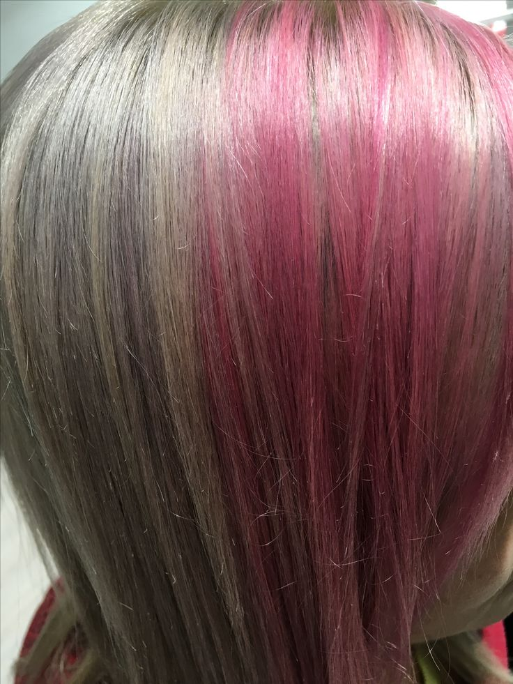 10.11AA Deepshine permanent color Rusk Clear, Pink and a drop of Merlot Deepshine Direct color Rusk