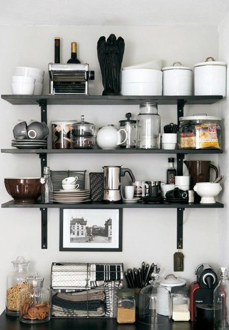 Storage Solution Simple Open Kitchen Shelves: 66 Best Kitchen Storage Solutions Images On Pinterest