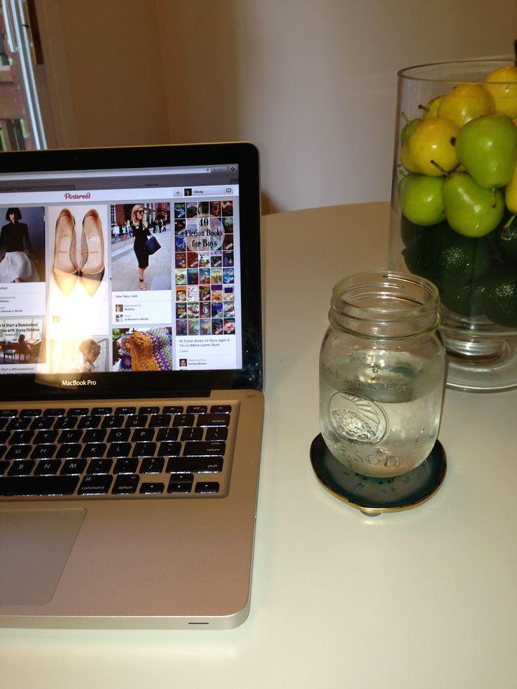 Gold Leaf Agate Coasters Home Decor DIY Pinterest