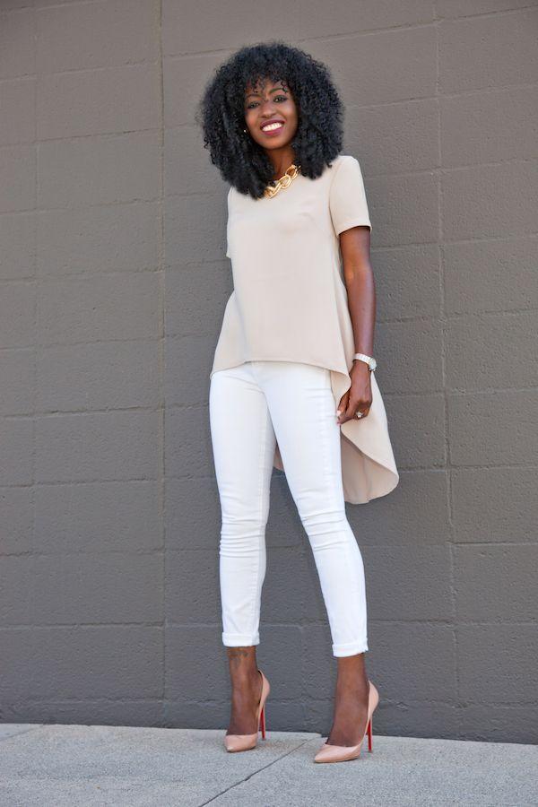 Babydoll Blouse + White Skinny Jeans   Style Pantry   Bloglovin'