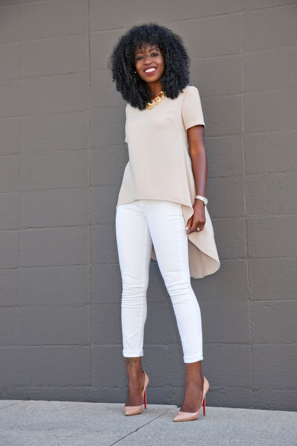 Babydoll Blouse + White Skinny Jeans | Style Pantry | Bloglovin'