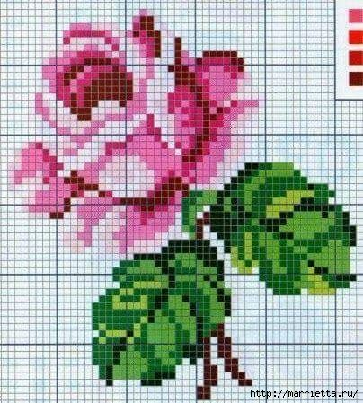 Плед «РОЗА» крючком маленькими квадратными мотивами (14) (404x449, 154Kb)