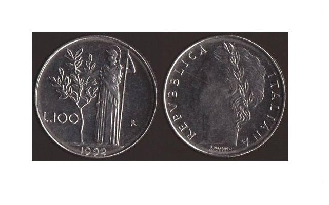 100 Lire 1992