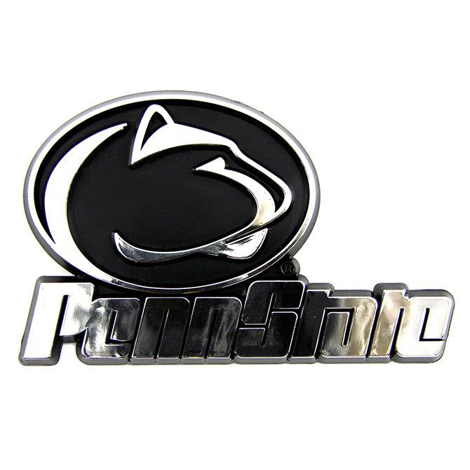Penn State Nittany Lions Logo 3d Chrome Auto Decal Sticker New