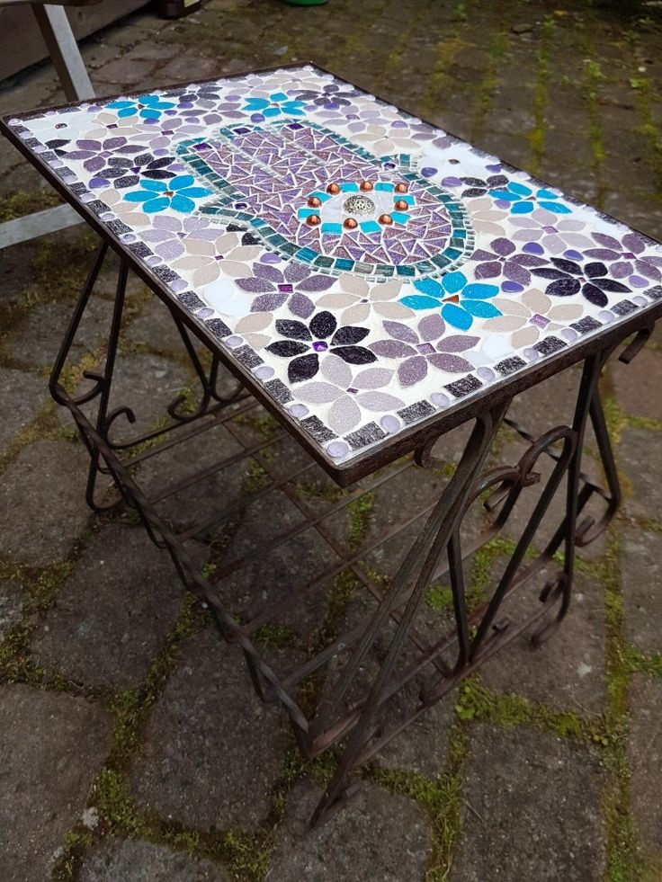 """Mosaic table """"Fatimas Hand"""" by Carillo"""