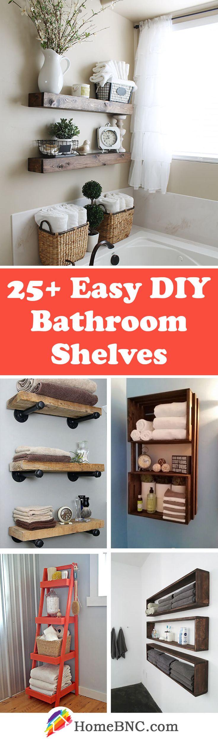 DIY Bathroom Shelf Decor Ideas