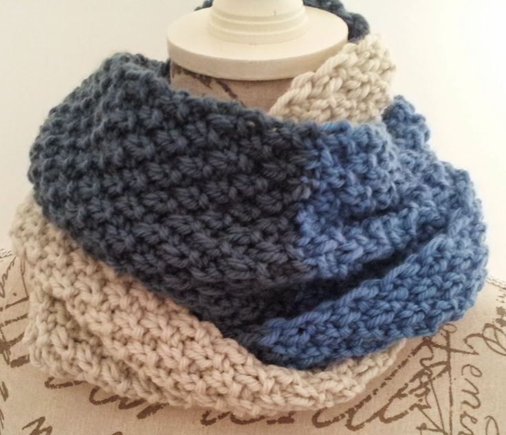 50. Neck Mediterranean Sea o'clock wheat / Mediterranean Sea in Double Seed Stitch Cowl - I weave ... we weave