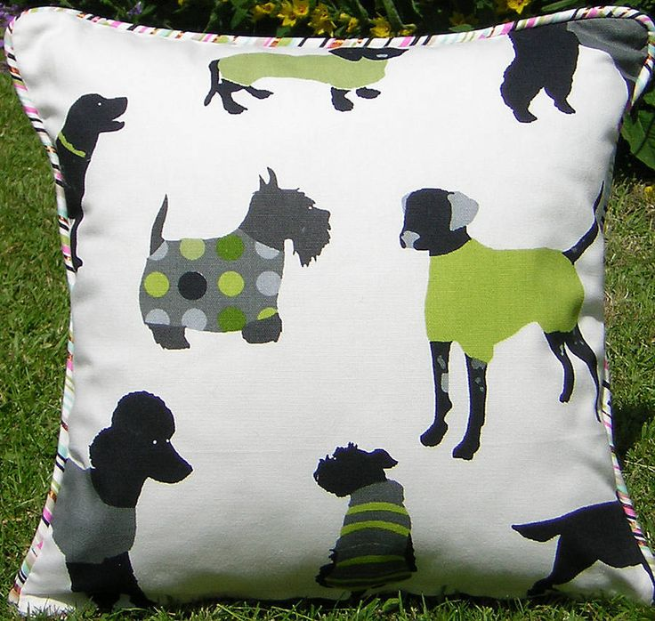 Mr Woofles Lime Cushion