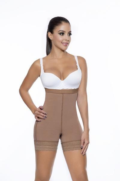 Fajas Colombianas Seamless High Hugger Womens Body Shaper no Zipper Short Style S0075