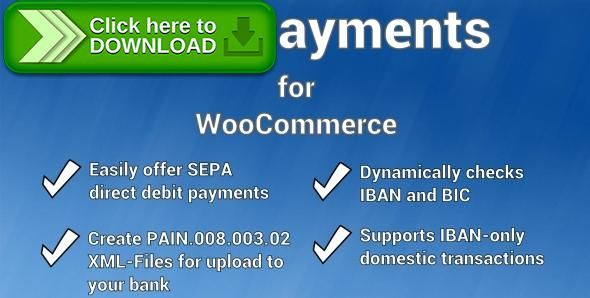 [ThemeForest]Free nulled download SEPA Payment Gateway for WooCommerce from http://zippyfile.download/f.php?id=53266 Tags: ecommerce, bic, direct debit, iban, payment, sepa, shop, Single European Payment Area, woocommerce