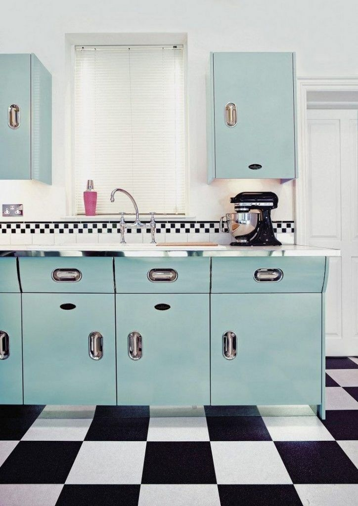 45 Amazing Retro Kitchen Design And Decor Ideas To Get Mid