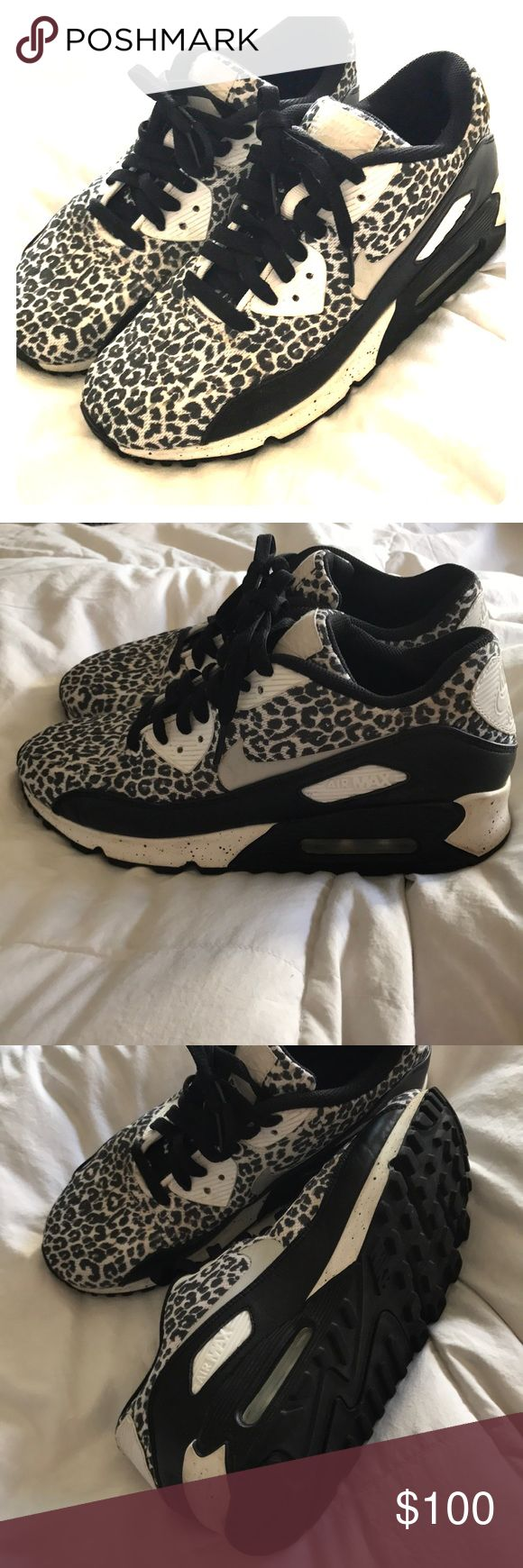 Nike ID leopard Air Max Adorable and like new! Nike Shoes Athletic Shoes
