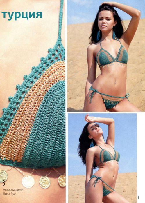 Sexy bikini set with diagram