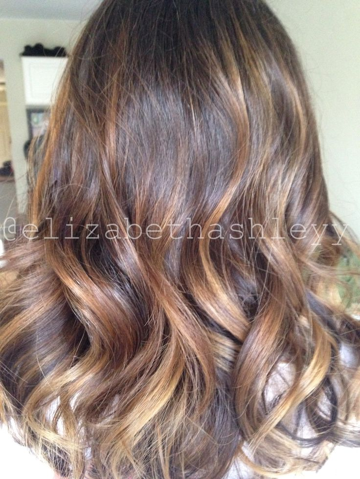 Balayage Highlights Brunette Balayage Medium Length