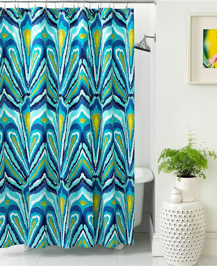perfectly trina turk bath blue peacock shower curtain macy 39 s