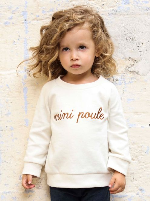 Le sweat « Mini Poule » ivoire EMOI EMOI - Photo
