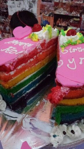 Rainbow cake! Legian, bali
