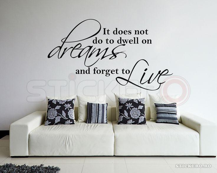 Live in reality - sticker decorativ mesaj