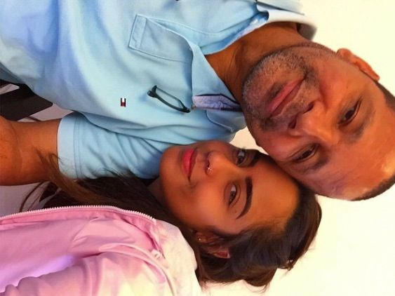 Neymar father and Neymar sister