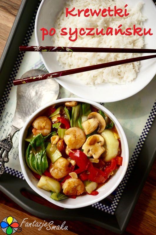 KREWETKI PO SYCZUAŃSKU http://fantazjesmaku.weebly.com/blog-kulinarny/krewetki-po-syczuansku