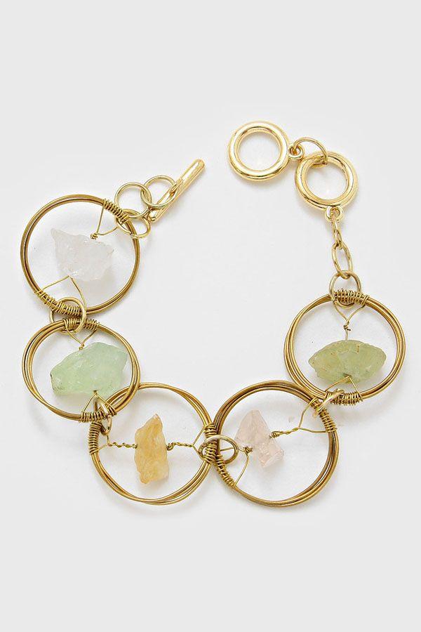 Tri Tone Quartz Bracelet | Women's Clothes, Casual Dresses, Fashion Earrings & Accessories | Emma Stine Limited