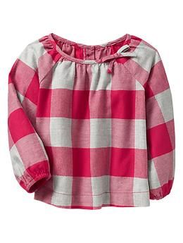 Checkered flannel top   Gap: 12-18mo