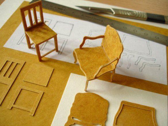 working with stencil card laissons parler les petits papiers pinterest meubles maison de. Black Bedroom Furniture Sets. Home Design Ideas