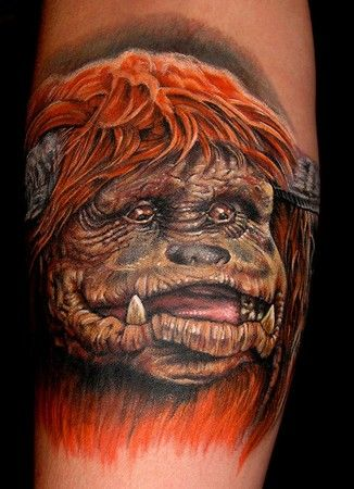 An incredible Ludo tattoo. Look at that detail! he's so cute from labyrinth