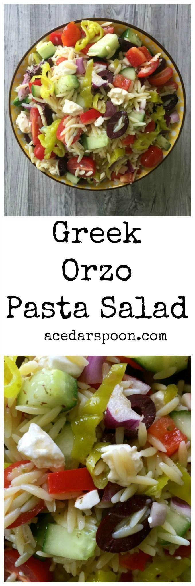 Greek Orzo Pasta Salad // A Cedar Spoon