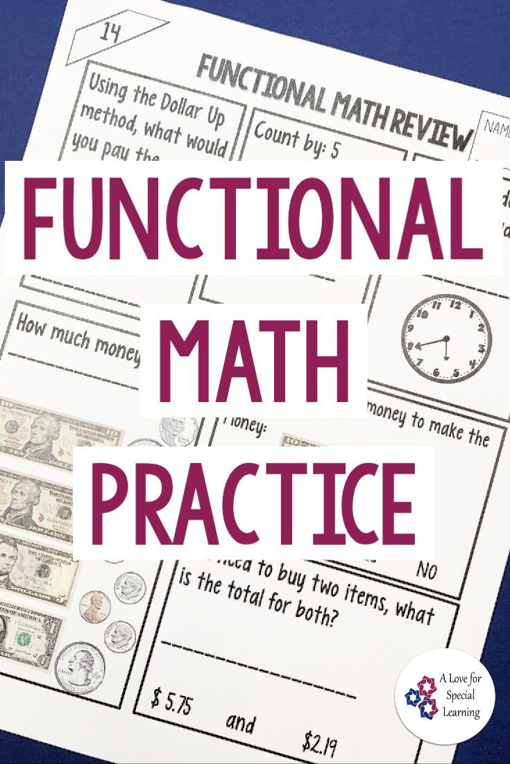 Functional Math Practice In The Classroom Consumer Math Math Worksheets Money Math Worksheets