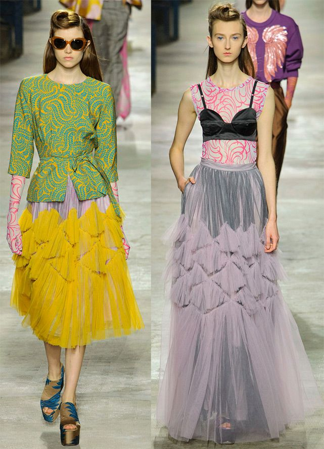 Fashionable and transparent multi-layered skirt 2016