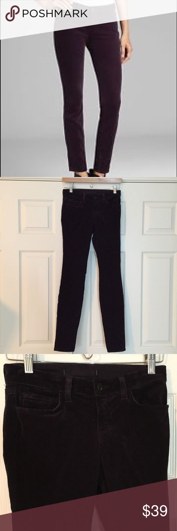 """🎉Final Price🎉J Brand Skinny Mulberry Cord Jean super pretty """"Mulberry"""" pinwale corduroy skinny leg from J Brand. 98% cotton 2% spandex. very good condition. size 26. waist flat is 13.5"""", front rise is 8"""", inseam is 30.5"""". 7D1935. J Brand Jeans Skinny"""
