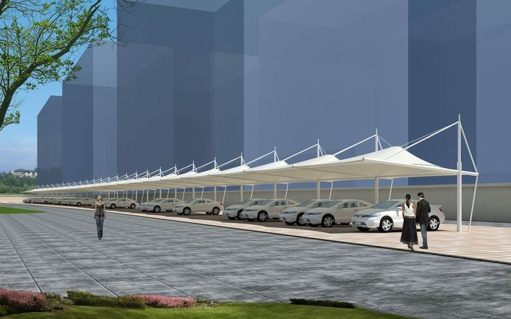 tensile membrane structure for carport ,car parking roof