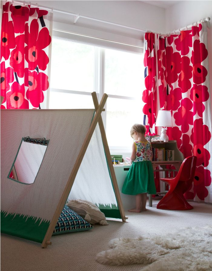 + beautiful indoor play tent + #kids #decor
