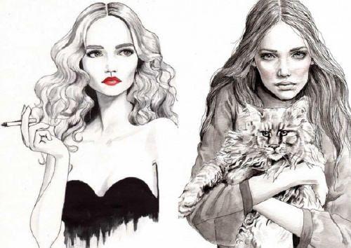 fashion illusration обои - Поиск в Google
