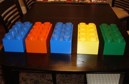 Make these fun, colourful lego design storage boxes for a young boy's bedroom. We use 12mm PG Bison SupaWood to make up the boxes and Rust-Oleum 2X spray paint to colour them. http://www.home-dzine.co.za/diy/diy-legobox.htm#