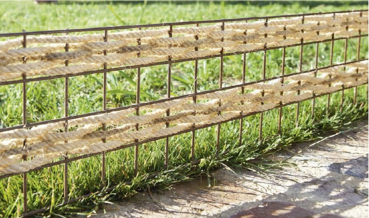 woven fence >> Marie Claire Idees