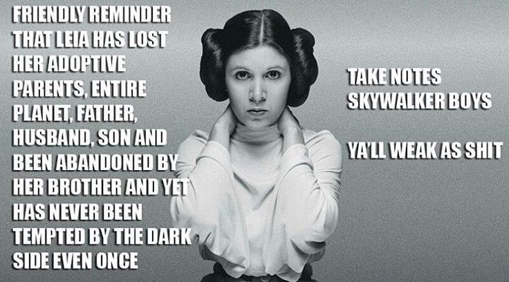 "Star Wars on Instagram: ""True point...perhaps women are stronger than men"""