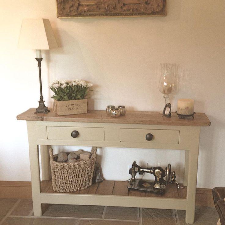#countryhome #interiorinspiration #decor #interiors #farrowandball #consoletable #candle #vintage #frenchgrey