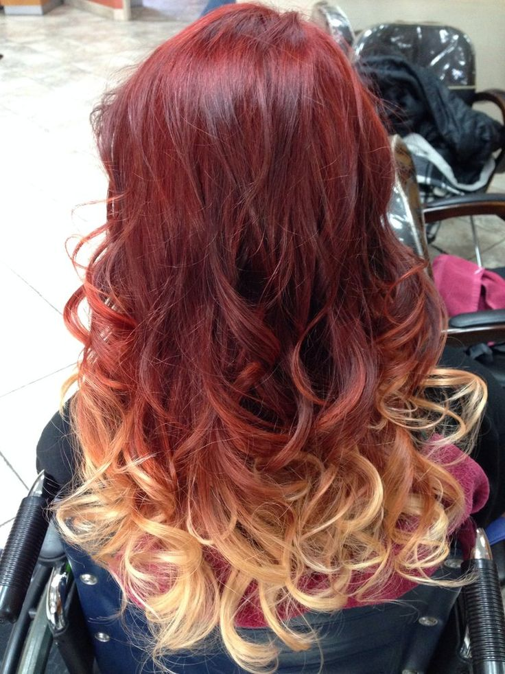 17 best ideas about red to blonde ombre on pinterest red
