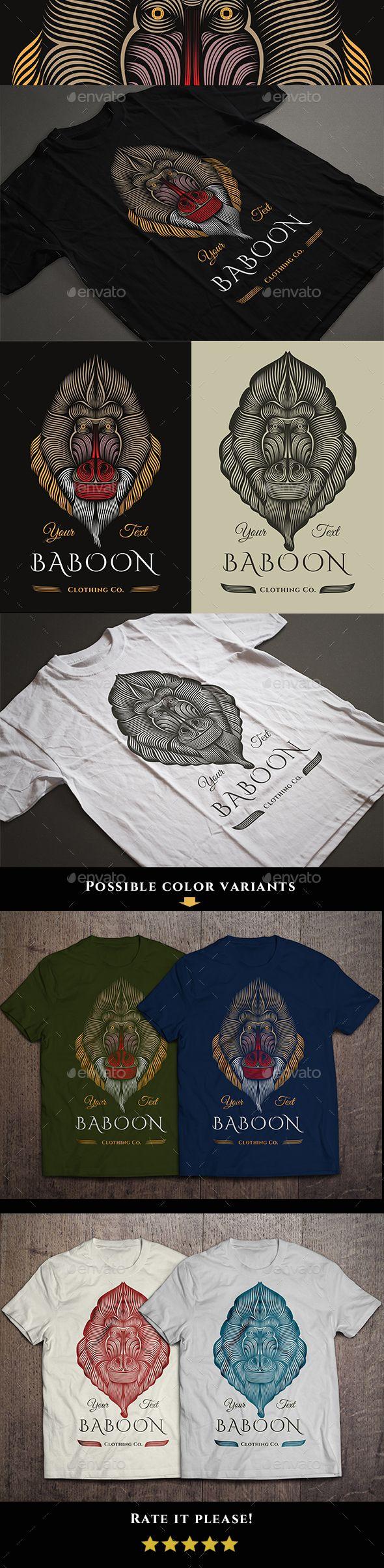 T shirt design using coreldraw - Baboon T Shirt Design