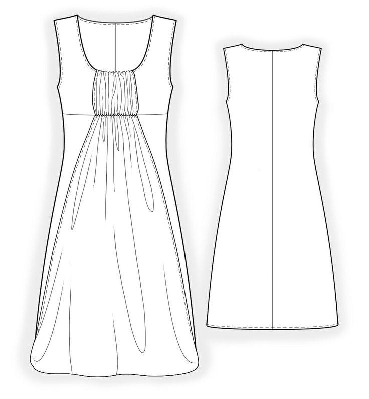 Robe Bain De Soleil  - Patrons de couture #4164 Les patrons de couture Lekala faits sur mesure a télécharger gratuitement.