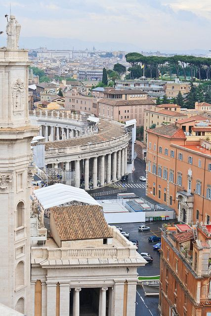 View from The Top of St Peter's Basilica, Vatican City, Italy
