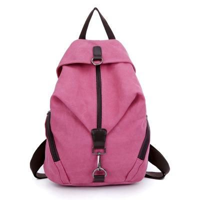 Pure Color Canvas Backpack ~ College Book Bag ~ Travel Bag