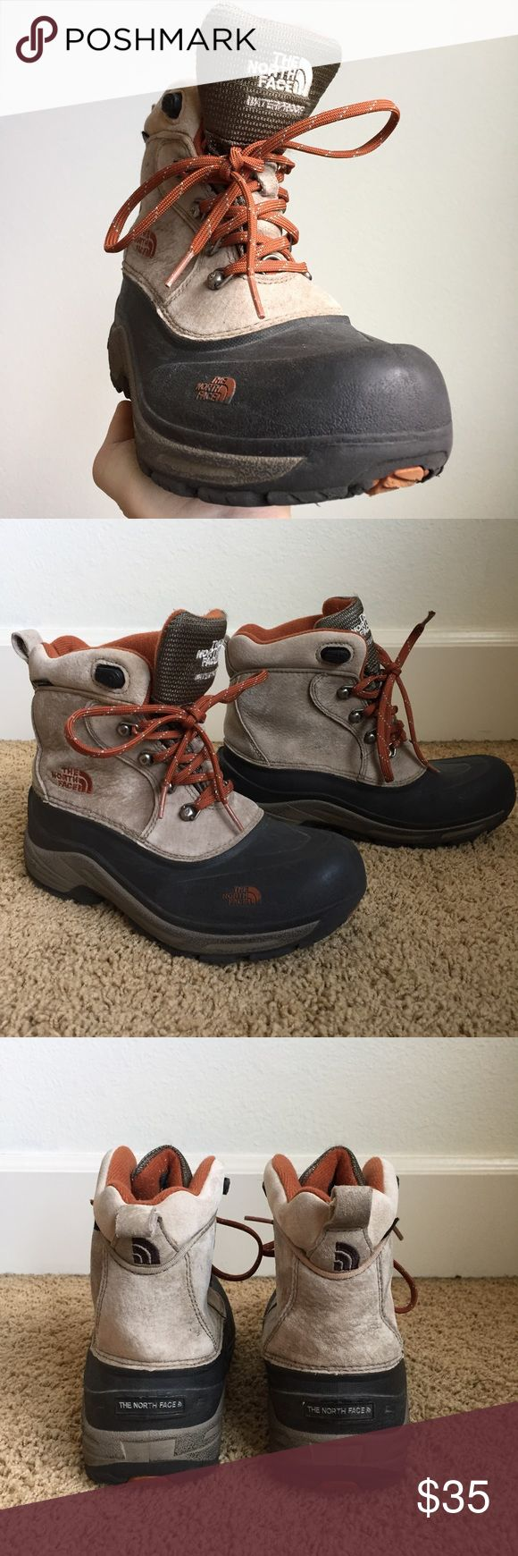 The North Face Boys Hiking Boots North Face boys hiking boots. Brother's initials on tag (only took on 1 camping trip) but otherwise great condition! Very well insulated, very warm. The North Face Shoes Rain & Snow Boots