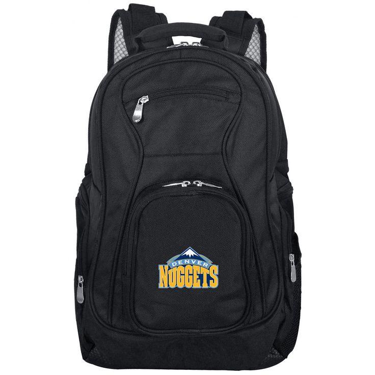 NBA Denver Nuggets Black Backpack Laptop