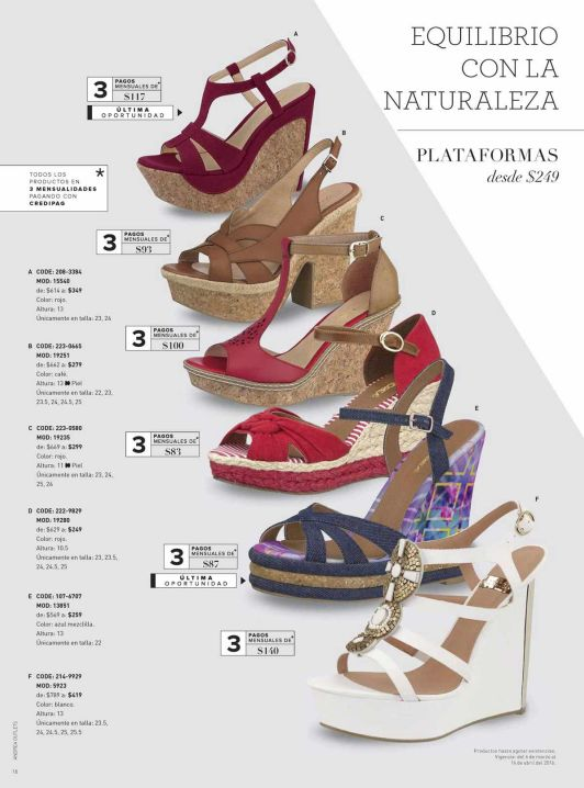 Ofertas Outlet Andrea, plataformas de moda para mujer