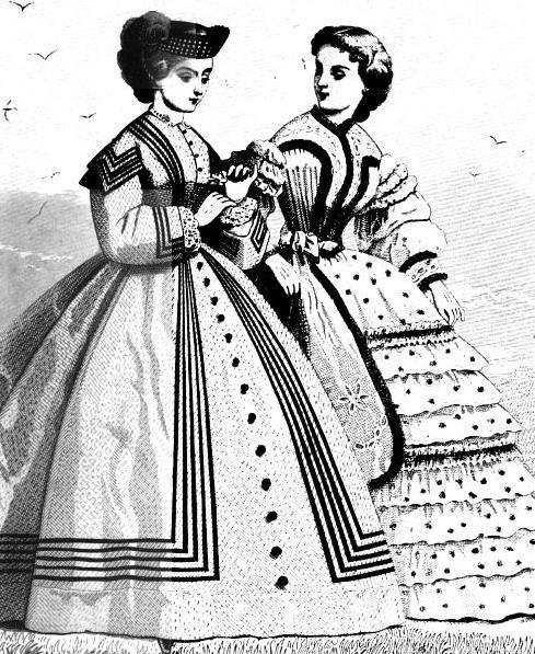 Ladies Of The 1860s: Petersons Magazin für Juni 1862